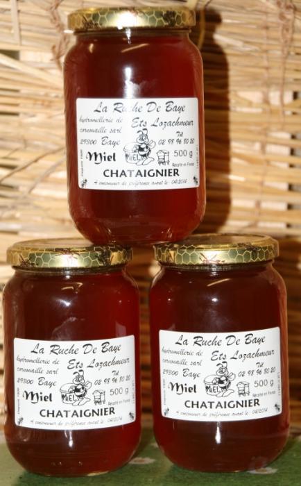 Miel de chataignier 500 gr la ruche de baye autres - La ruche a miel ...